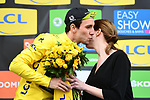 Simon Yates (GBR) Mitchelton-Scott wins a wet miserable Stage 7 and takes over the race leaders Yellow Jersey of the 2018 Paris-Nice running 175km from Nice to Valdeblore la Colmiane, France. 10th March 2018.<br /> Picture: ASO/Alex Broadway | Cyclefile<br /> <br /> <br /> All photos usage must carry mandatory copyright credit (&copy; Cyclefile | ASO/Alex Broadway)