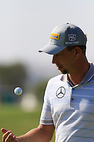 Marcel Siem (GER) on the 9th green during Thursday's Round 1 of the 2016 Portugal Masters held at the Oceanico Victoria Golf Course, Vilamoura, Algarve, Portugal. 19th October 2016.<br /> Picture: Eoin Clarke | Golffile<br /> <br /> <br /> All photos usage must carry mandatory copyright credit (&copy; Golffile | Eoin Clarke)