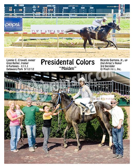 Presidental Colors winning at Delaware Park on 9/12/12