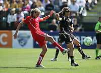 Allie Long (left) Tina DiMartino (right). Washington Freedom defeated FC Gold Pride 4-3 at Buck Shaw Stadium in Santa Clara, California on April 26, 2009.