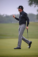 Jimmy Walker (USA) after sinking his birdie putt on 1 during Round 3 of the Valero Texas Open, AT&T Oaks Course, TPC San Antonio, San Antonio, Texas, USA. 4/21/2018.<br /> Picture: Golffile | Ken Murray<br /> <br /> <br /> All photo usage must carry mandatory copyright credit (© Golffile | Ken Murray)