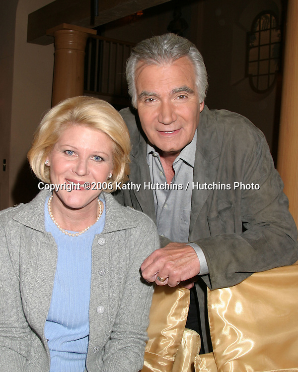 Alley Mills & John McCook.Set of The Bold and The Beautiful.CBS Television City.Los Angeles, CA.December 6, 2006.©2006 Kathy Hutchins / Hutchins Photo.