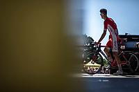 Anthony Perez (FRA/Team Cofidis) on the pre race sign on podium<br /> <br /> Stage 5: Lorient &gt; Quimper (203km)<br /> <br /> 105th Tour de France 2018<br /> &copy;kramon