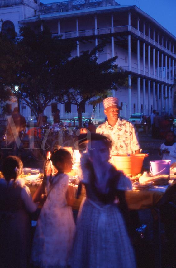 Tanzania Zanzibar Food vendor in Forodhani gardens