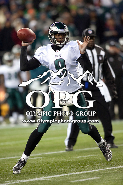 Dec 1, 2011:  Philadelphia's #9 Vince Young against Seattle.  Seattle defeated Philadelphia 31-14 at Century Link Field in Seattle, Washington.