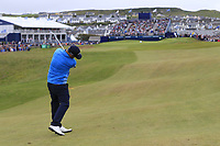 Andy Sullivan (ENG) plays his 2nd shot on the 18th hole during Saturday's Round 3 of the Dubai Duty Free Irish Open 2019, held at Lahinch Golf Club, Lahinch, Ireland. 6th July 2019.<br /> Picture: Eoin Clarke | Golffile<br /> <br /> <br /> All photos usage must carry mandatory copyright credit (© Golffile | Eoin Clarke)