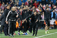 Atletico de Madrid's coach Diego Pablo Simeone during Champions League 2015/2016 Quarter-Finals 2nd leg match. April 13,2016. (ALTERPHOTOS/Acero) <br /> Madrid 13/4/2016 Vicente Calderon <br /> Football Calcio 2015/2016<br /> Champions League Quarti di finale <br /> Atletico Madrid - Barcellona <br /> Foto Alterphotos / Insidefoto <br /> ITALY ONLY