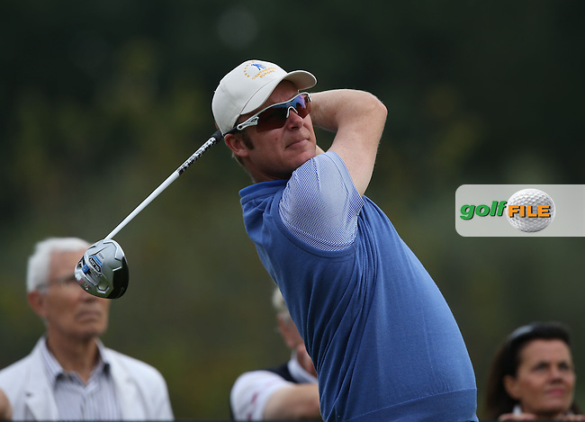 Team Continental Europe's Mikko Ilonen (FIN) during the Fourball Matches on Day One at the Seve Trophy by Golf+ 2013, from Saint-Nom-La-Breteche, Paris, France. Picture:  David Lloyd / www.golffile.ie