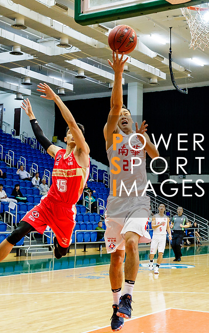 Tsai Choi Kwan #27 of South China Athletic Association Men's Basketball Team tries to score during the Hong Kong Basketball League game between SCAA and Nam Ching at Southorn Stadium on May 4, 2018 in Hong Kong. Photo by Yu Chun Christopher Wong / Power Sport Images
