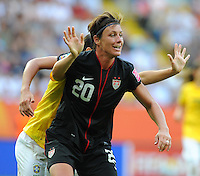 Abby Wambach of team USA during the FIFA Women's World Cup at the FIFA Stadium in Dresden, Germany on July 10th, 2011.