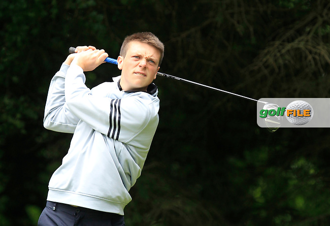 Eric Rumley (Kinsale) on the 2nd tee during Round 3 of the Irish Boys Amateur Open Championship at Tuam Golf Club on Thursday 25th June 2015.<br /> Picture:  Thos Caffrey / www.golffile.ie