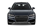 Car photography straight front view of a 2018 Audi A4 allroad quattro base 5 Door Wagon