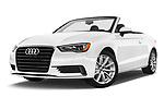 Stock pictures of low aggressive front three quarter view of 2015 Audi A3 2.0T quattro S tronic Premium 2 Door Convertible