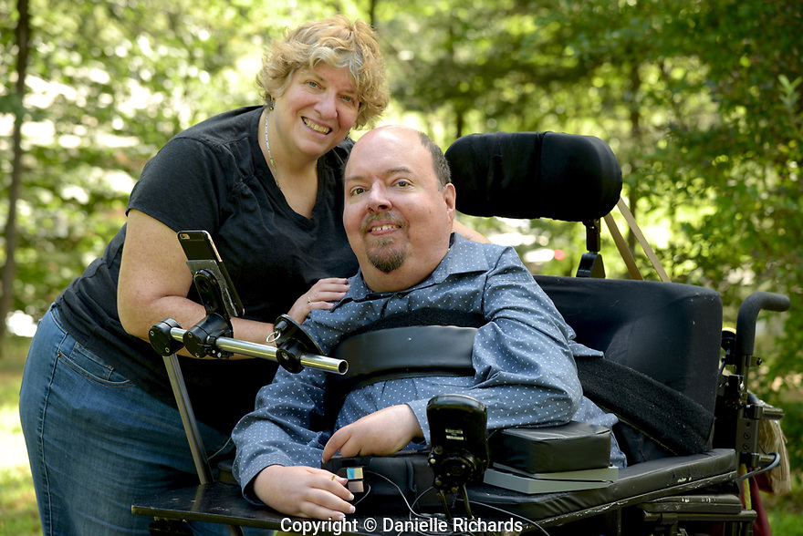 Daniel Florio and his mother, Judy. He is a quadriplegic as a result of spinal muscular atrophy, worries about the future once his parents are no longer able to help with his care.  He requires 24-hour care, which is only partially covered by Medicaid.  His parents cover the other hours.
