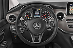 Car pictures of steering wheel view of a 2015 Mercedes Benz V-CLASS AVANTGARDE 5 Door Minivan 2WD Steering Wheel