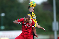 Lewwis Spence of Hornchurch and Noel Leighton of Margate during Hornchurch vs Margate, BetVictor League Premier Division Football at Hornchurch Stadium on 13th August 2019