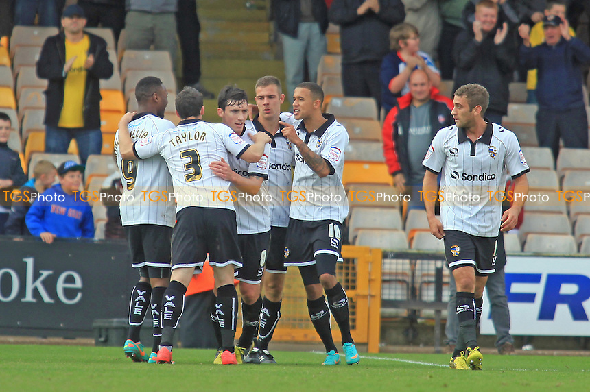 Port Vale players celebrate their second goal - Port Vale vs Wycombe Wanderers - NPower League Two Football at Vale Park - 20/10/12 - MANDATORY CREDIT: Paul Dennis/TGSPHOTO - Self billing applies where appropriate - 0845 094 6026 - contact@tgsphoto.co.uk - NO UNPAID USE.