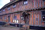 AMFY2F Half timbered building Laxfield town hall Suffolk England