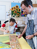Art & Craft class for a learning support group, Adult Learning Centre, Guildford, Surrey.