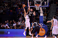 New Zealand Tall Blacks' Tom Abercromble and Jordan's Mohammad Hussein in action during the FIBA World Cup Basketball Qualifier - NZ Tall Blacks v Jordan at Horncastle Arena, Christchurch, New Zealand on Thursday 29 November  2018. <br /> Photo by Masanori Udagawa. <br /> www.photowellington.photoshelter.com