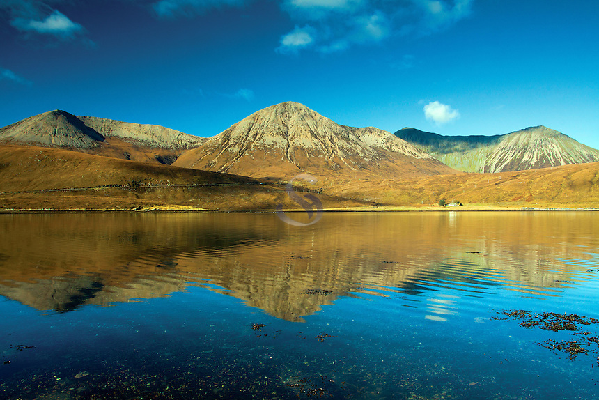 Beinn Dearg from Loch Ainort, Isle of Skye, Skye & Lochalsh, Highland