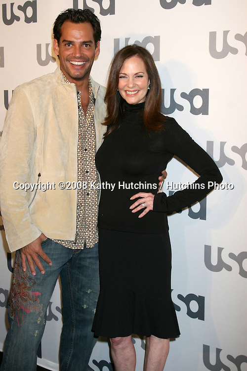 Cristian DeLaFuente & Lesley Ann Warren.USA Network 2008 LA Upfront.Craft.Century City, CA.April 3, 2008.©2008 Kathy Hutchins / Hutchins Photo
