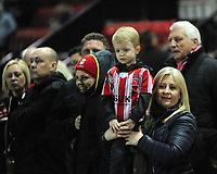 Lincoln City fans enjoy the pre-match atmosphere<br /> <br /> Photographer Andrew Vaughan/CameraSport<br /> <br /> The EFL Sky Bet League Two - Lincoln City v Exeter City - Tuesday 26th February 2019 - Sincil Bank - Lincoln<br /> <br /> World Copyright © 2019 CameraSport. All rights reserved. 43 Linden Ave. Countesthorpe. Leicester. England. LE8 5PG - Tel: +44 (0) 116 277 4147 - admin@camerasport.com - www.camerasport.com