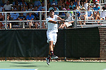 09 May 2015: Tassilo Schmid (GER). The University of North Carolina Tar Heels hosted the Mississippi State University Bulldogs at Cone-Kenfield Tennis Center in Chapel Hill, North Carolina in a 2015 NCAA Division I Men's Tennis Tournament Second Round match. UNC won the match 4-1.