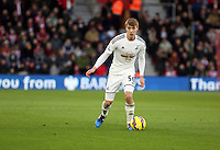 Pictured: Jay Fulton of Swansea Sunday 01 February 2015<br /> Re: Premier League Southampton v Swansea City FC at ST Mary's Ground, Southampton, UK.
