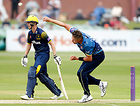 Mitch Claydon bowls for Kent during the Royal London One Day Cup game between Kent and Glamorgan at the St Lawrence Ground, Canterbury, on May 25, 2018