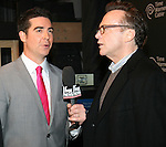 Jesse Watters and Tom Arnold  at FOX Sports 1 celebrates the official Thursday Night Super Bash at Time Warner Cable Studios. Hosts Michael Strahan and Erin Andrews Superbowl week, NY
