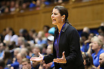 24 January 2016: Duke head coach Joanne P. McCallie. The Duke University Blue Devils hosted the University of North Carolina Tar Heels at Cameron Indoor Stadium in Durham, North Carolina in a 2015-16 NCAA Division I Women's Basketball game. Duke won the game 71-55.
