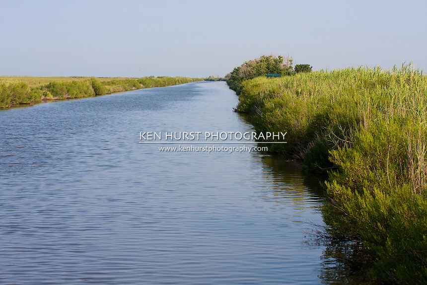 Canal in Sabine National Wildlife Refuge, Louisiana.