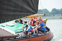ZEILEN: LEMMER: Lemster baai, 31-07-2014, SKS skûtsjesilen, skûtsje Gerben van Manen, Heerenveen, schipper Alco Reijenga, ©foto Martin de Jong
