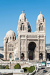 Marseille Cathedral in the Panier and Vieux Port neighborhood of Marseille, France