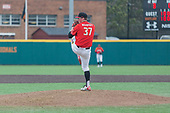 """Pitcher John Murphy winds up before throwing from the mound in Maryland's 6-2 defeat to the University of Michigan on Mar. 26, 2017 at Bob """"Turtle"""" Smith Stadium.  (Marquise McKine/The Diamondback)"""