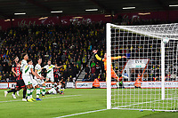 Junior Stanislas of AFC Bournemouth right scores past Michael McGovern of Norwich City  during AFC Bournemouth vs Norwich City, Caraboa Cup Football at the Vitality Stadium on 30th October 2018