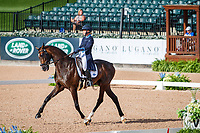 FIN-Pauliine Swindells rides Ferro S during the FEI World Team and Individual Eventing Championship Dressage. 2018 FEI World Equestrian Games Tryon. Friday 14 September. Copyright Photo: Libby Law Photography