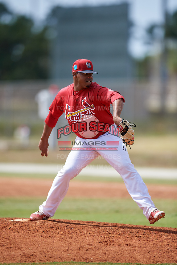 St. Louis Cardinals pitcher Yeison Medina (35) during a Minor League Spring Training game against the Houston Astros on March 27, 2018 at the Roger Dean Stadium Complex in Jupiter, Florida.  (Mike Janes/Four Seam Images)