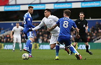 Queens Park Rangers' Ravel Morrison is taken down by Cardiff City's Joe Ralls<br /> <br /> Photographer /Rob NewellCameraSport<br /> <br /> The EFL Sky Bet Championship - Queens Park Rangers v Cardiff City - Saturday 4th March 2017 - Loftus Road - London<br /> <br /> World Copyright &copy; 2017 CameraSport. All rights reserved. 43 Linden Ave. Countesthorpe. Leicester. England. LE8 5PG - Tel: +44 (0) 116 277 4147 - admin@camerasport.com - www.camerasport.com