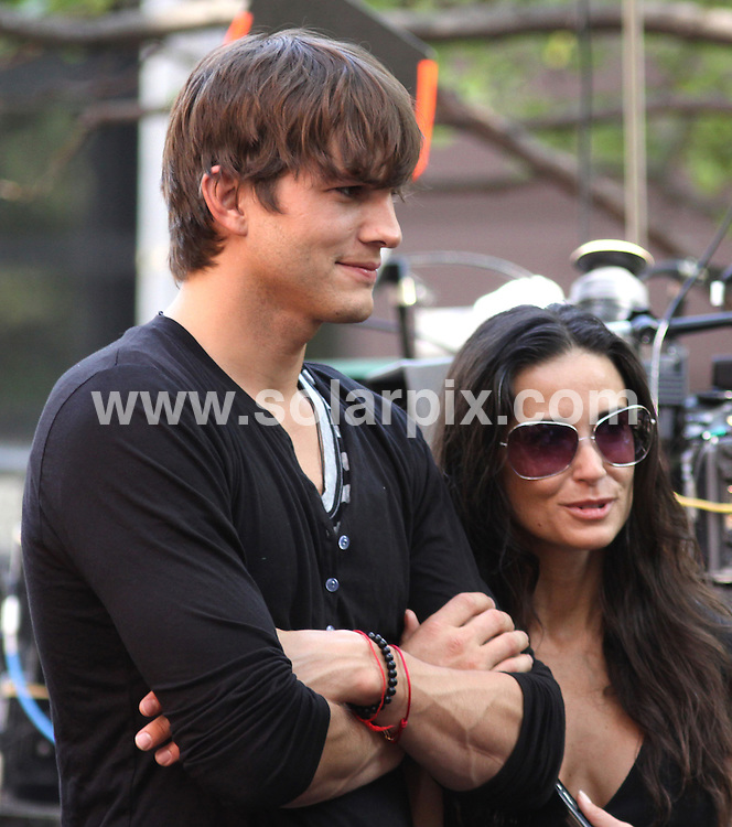 "**ALL ROUND PICTURES FROM SOLARPIX.COM**.**SYNDICATION RIGHTS FOR UK, AUSTRALIA, DENMARK, PORTUGAL, S. AFRICA, SPAIN & DUBAI (U.A.E) ONLY**.filming ""A Beautiful Life"" at a Courthouse in New York, NY, USA. 10 August 2009..This pic: Ashton Kutcher and Demi Moore..JOB REF: 9735 PHZ (Mayer)   DATE: 10_08_2009.**MUST CREDIT SOLARPIX.COM OR DOUBLE FEE WILL BE CHARGED**.**MUST NOTIFY SOLARPIX OF ONLINE USAGE**.**CALL US ON: +34 952 811 768 or LOW RATE FROM UK 0844 617 7637**"