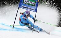 ATENCAO EDITOR IMAGEM EMBARGADA PARA VEICULOS INTERNACIONAIS - SEMMERING, AUSTRIA, 28 DEZEMBRO 2012 - AUDI FIS ALPINE WORLD CUP - A atleta slovena Tina Maze compete na prova de Slalom Gigante do esqui Alpino durante a Audi FIS World Cup em Semmering na Austria nesta sexta-feira, 28. (FOTO: PIXATHLON / BRAZIL PHOTO PRESS).