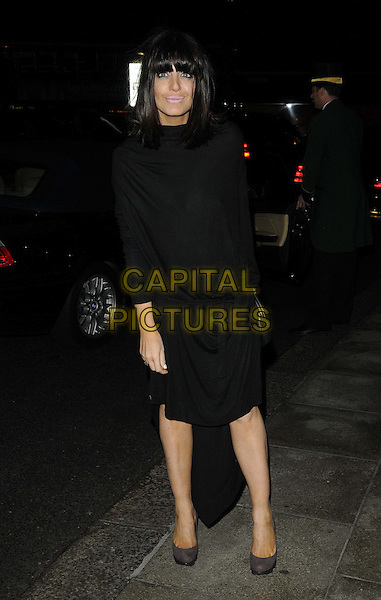 Claudia Winkleman.The Fashion for the Brave fundraising event inn aid of the British Forces Foundation & the Household Cavalry Operational Casualties Fund, Dorchester Hotel, London, England..September 20th, 2012.full length black dress.CAP/CAN.©Can Nguyen/Capital Pictures.