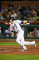 Scottsdale Scorpions Gavin Cecchini (2), of the New York Mets organization, during a game against the Mesa Solar Sox on October 17, 2016 at Scottsdale Stadium in Scottsdale, Arizona.  Mesa defeated Scottsdale 12-2.  (Mike Janes/Four Seam Images)