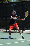 SAN DIEGO, CA - APRIL 24:  Sherif Hamdy of the Saint Marys Gaels during the WCC Tennis Championships at the Barnes Tennis Center on April 24, 2010 in San Diego, California.