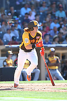 Clint Frazier of the USA Team bats against the World Team during The Futures Game at Petco Park on July 10, 2016 in San Diego, California. World Team defeated USA Team, 11-3. (Larry Goren/Four Seam Images)