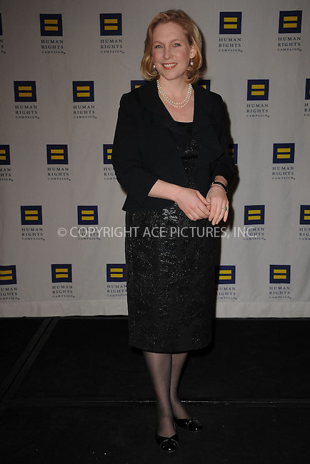 WWW.ACEPIXS.COM . . . . . ....February 6 2010, New York City....US Senator Elizabeth Gillibrand arriving at the 9th annual Greater New York Human Rights Campaign Gala at The Waldorf Astoria on February 6, 2010 in New York City.....Please byline: KRISTIN CALLAHAN - ACEPIXS.COM.. . . . . . ..Ace Pictures, Inc:  ..tel: (212) 243 8787 or (646) 769 0430..e-mail: info@acepixs.com..web: http://www.acepixs.com