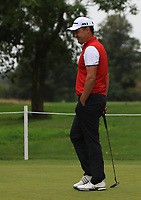 Simon Khan (ENG) on the putting green during Pro-Am of the Bridgestone Challenge 2017 at the Luton Hoo Hotel Golf &amp; Spa, Luton, Bedfordshire, England. 06/09/2017<br /> Picture: Golffile | Thos Caffrey<br /> <br /> <br /> All photo usage must carry mandatory copyright credit     (&copy; Golffile | Thos Caffrey)