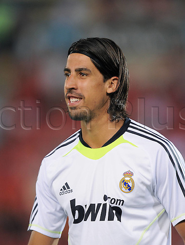 29.08.2010. La Liga Spanish 1st Division Football. Mallorca verus Real Madrid. The game ended in a 1-1 draw. Sami Khedira Real Madrid