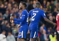 Michy Batshuayi of Chelsea celebrates his second goal, Carabao Cup, Third Round, Chelsea v Nottingham Forrest, Stamford Bridge, London, United Kingdom, 20th  September 2017